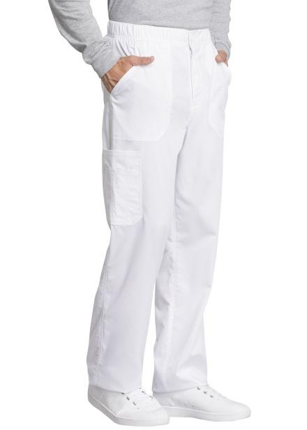 Spodnie medyczne męskie Revolution Tech białe