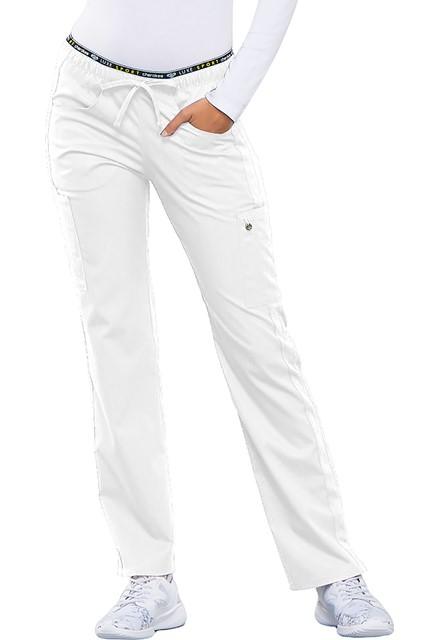 Spodnie medyczne damskie Luxe Sport białe