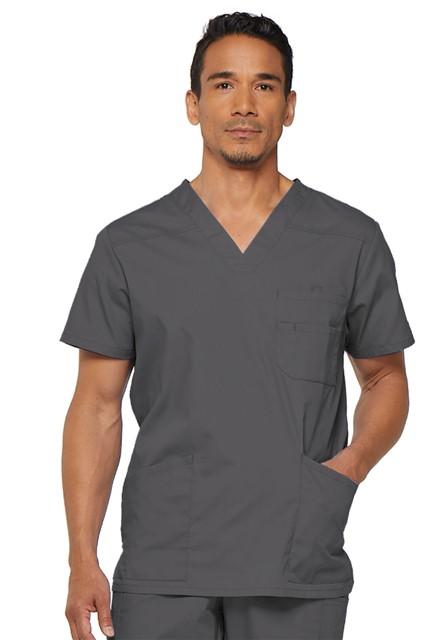 Bluza medyczna męska EDS V-neck grafitowa