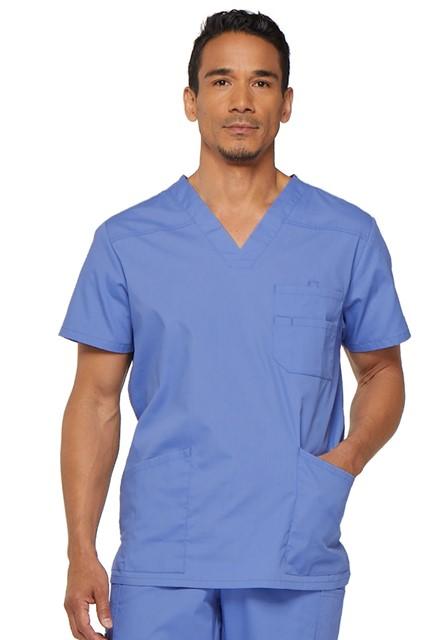 Bluza medyczna męska EDS V-neck błękitna